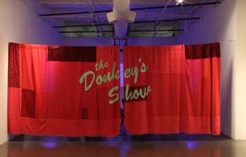 His Show. Fleece and found fabric. 84 x 228 in. 2011