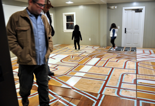 Suburban Labyrinth, installation, Luminaria Contemporary Arts Festival, San Antonio, TX. 2017